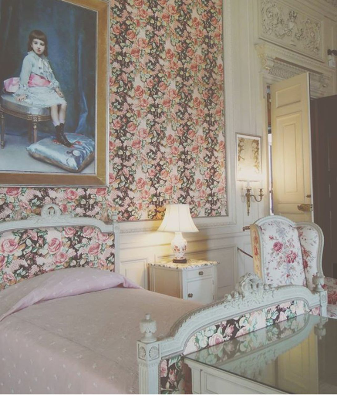 indoors, bedroom, home interior, no people, bed, wallpaper, curtain, architecture, home showcase interior, pillow, day