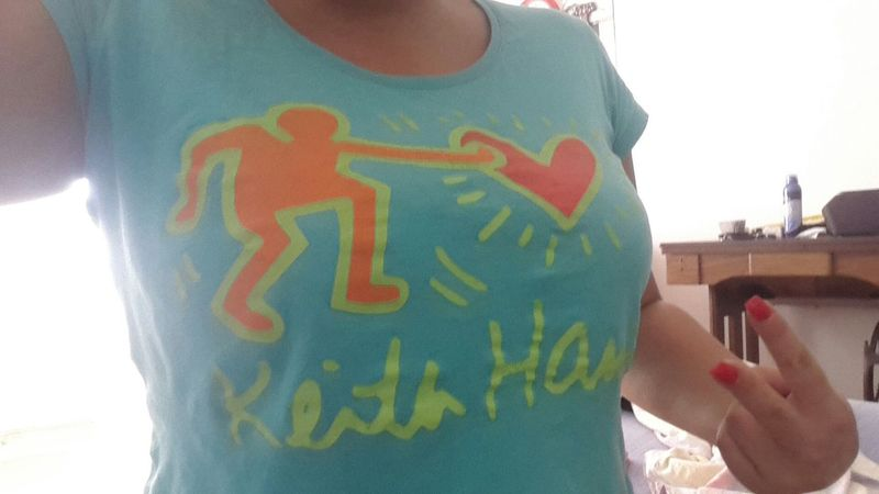 Keith Haring Iloveit Tshirt That's Me Taking Photos