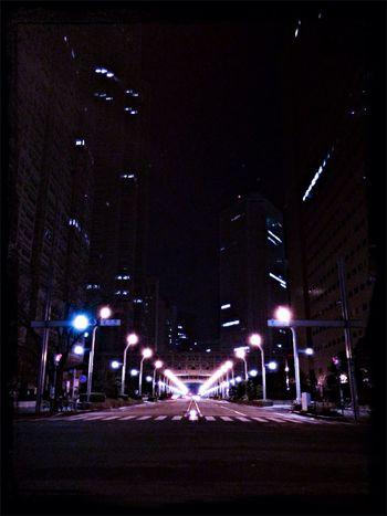 Photo 昨夜、深夜に歩いて帰る途中の都庁前。