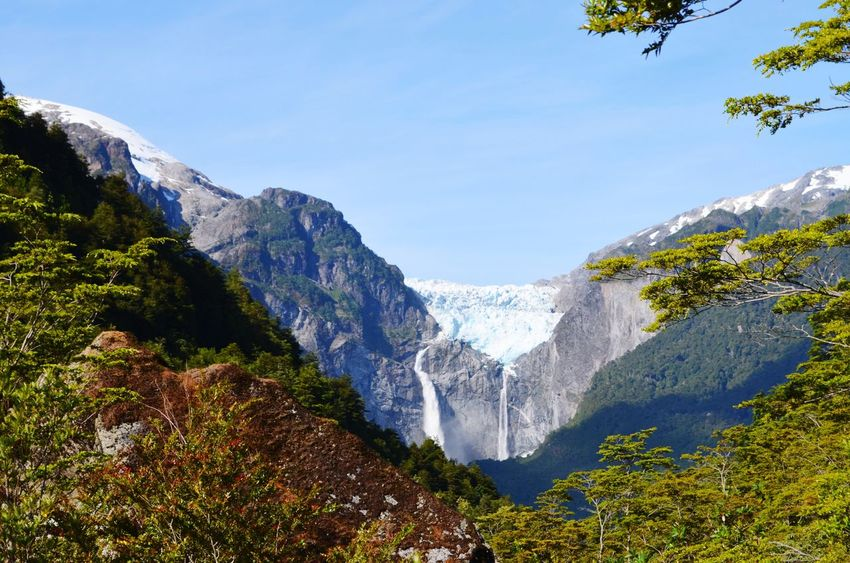 Ventisquero Colgante Glacier Ice Carretera Austral Aysen Patagonia Patagonia Chile Chile Queulat Queulat National Park Mountain Mountain Range Nature Water Beauty In Nature Scenics Forest Landscape Travel Destinations Mountain Peak Outdoors Snow No People Day Vacations