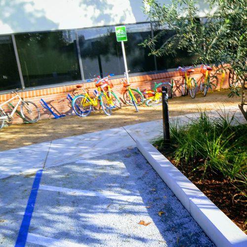 Googleplex Bicycles Rainbow Google Bikes Let's Go. Together.