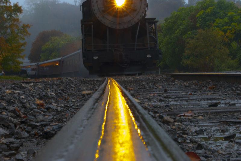 Western Maryland Scenic Railroad Steam Locomotive Head On