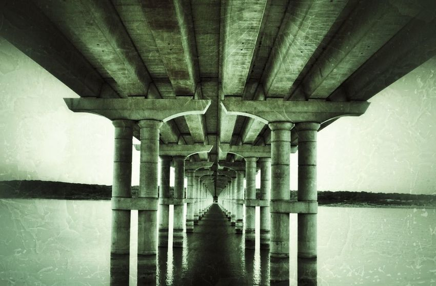 Vanishing Point Under The Bridge Low Water EyeEm Best Shots