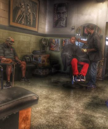 Overdue for a cut Getting Fresh Haircut Barbershop HDR Hdr_Collection Urban Urbanphotography People People Watching