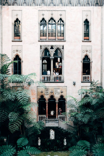 Isabella Stuart Gardner Museum Arch Architecture Building Exterior Built Structure Day Exterior No People Outdoors Plant Tree Window