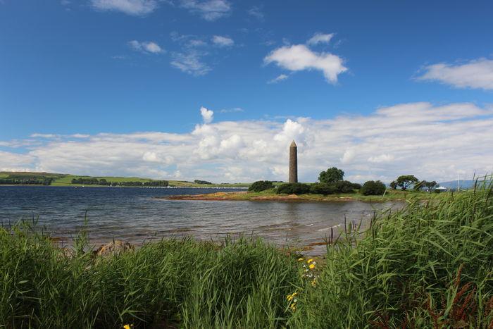 The Pencil monument at Largs,Ayrshire. Ayrshire Ayrshire Coast Ayrshire, Scotland Cloud - Sky History Monument Outdoors Scenics Scotland Scotland 💕 Sky Water