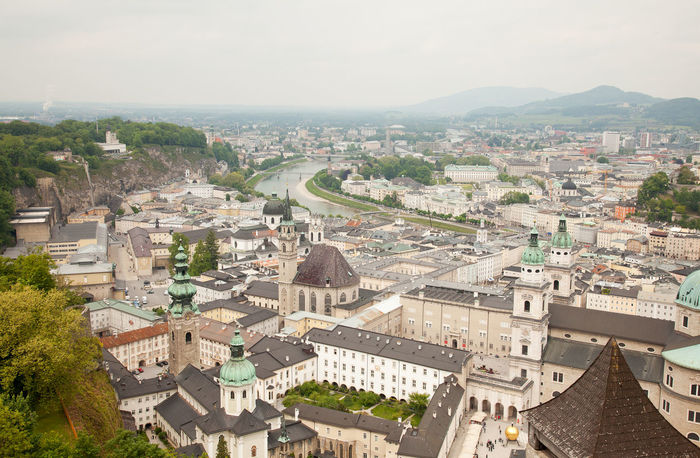 View to Salzburg Architecture Building Exterior Built Structure City Cityscape Community Crowded Day Elevated View High Angle View House Human Settlement Residential Building Residential District Residential Structure Roof Saltzburg Salzburg Sky Town TOWNSCAPE Tree