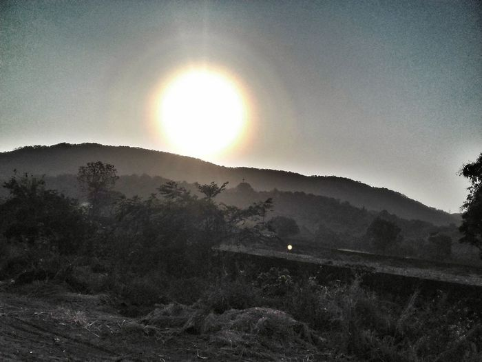 Miles Away Sun Nature Landscape Beauty In Nature No People Outdoors Sunbeam Scenics Tranquil Scene Sunset Mountain Tranquility Sky Astronomy High Angle View Shades Lights And Shadows Abstract Photography Travel Photography Travel Lowlight Illuminated