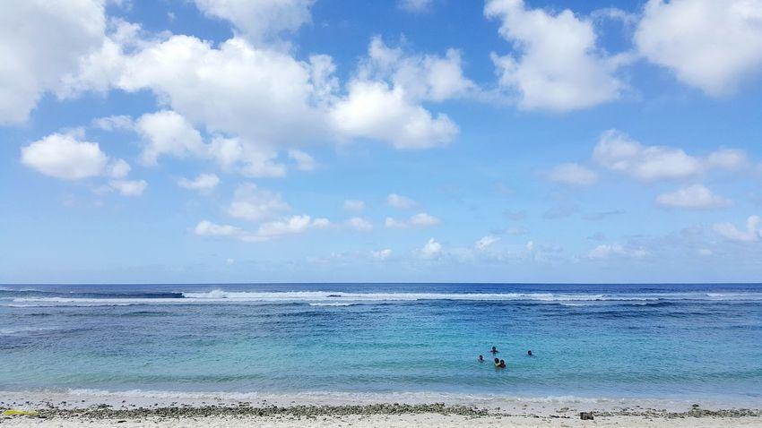 Sea Beach Cloud - Sky Horizon Over Water Water Sand Sky Scenics Outdoors Wave Nature Family Happy My Kids