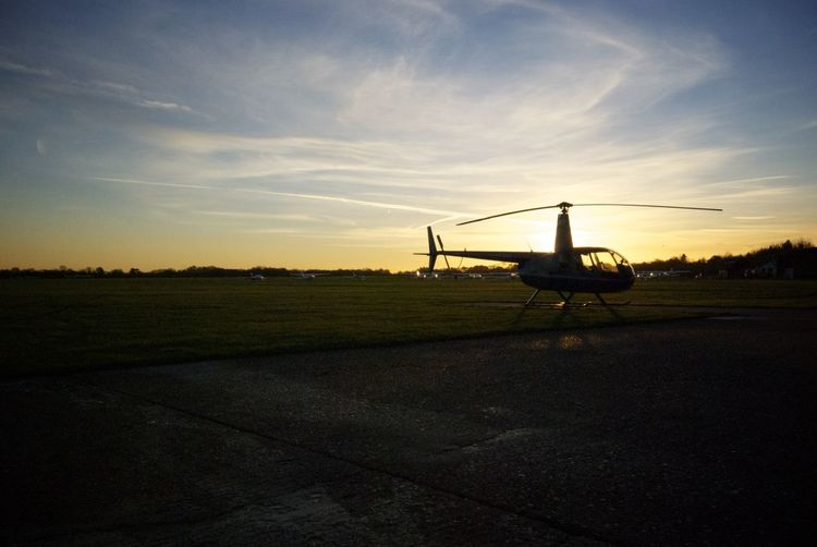 Helicopter Sunset