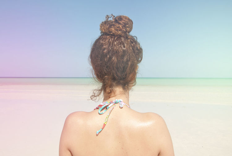 Afro Woman Back View View From Above Beach Beachphotography Point Of View Hair Hairstyle Girl Sea Seascape Be. Ready.