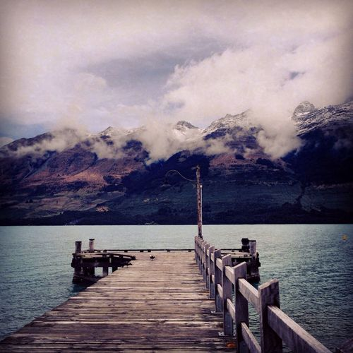 Pier New Zealand Lake Walking Around