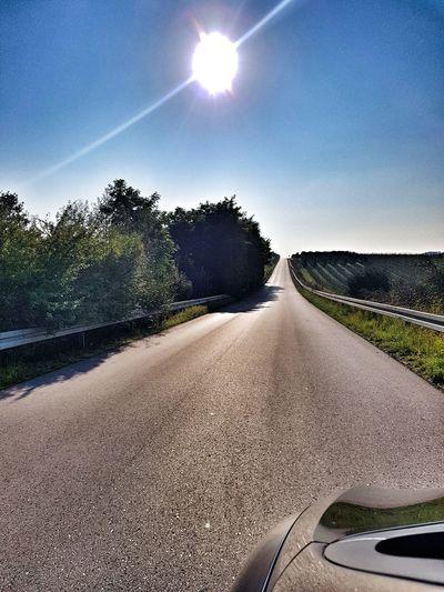 Road, rodute, Astronomy Tree Road Sunlight Sky