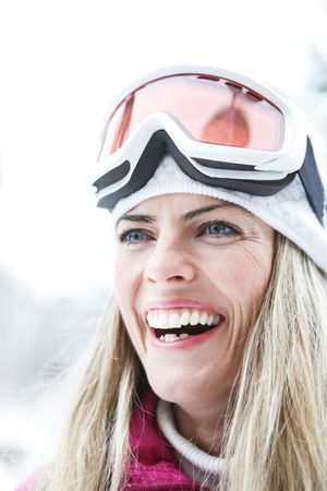 portrait of smiling woman in snow Active Blond Hair Cheerfulness Cold Temperature Cross-Country Skiing Emotion Front View Fun Hair Hairstyle Happiness Happy Headshot Holiday Human Face Laughing Leisure Leisure Activity Lifestyle Lifestyles Looking At Camera One Person Outdoors Outside People Portrait Ski Ski Goggles Ski Holiday Ski Trip Skier Skiing Smile Smiling Snow Sport Teeth Toothy Smile Warm Clothing Winter Winter Holiday Winter Sports Woman Women Young Adult