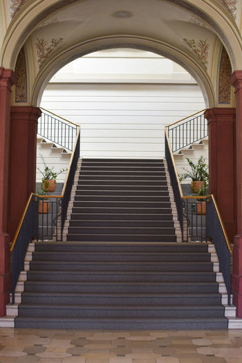 Absence Arch Architecture Building Built Structure Day Direction Door Empty Entrance Indoors  Low Angle View Luxury No People Ornate Pattern Railing Staircase Steps And Staircases The Way Forward