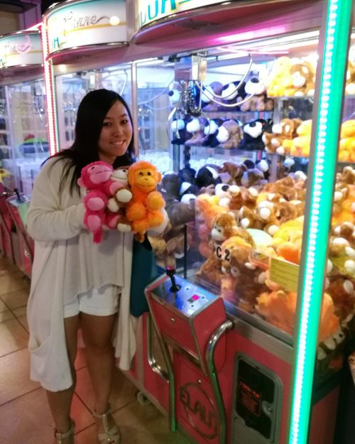 Won all these monkeys on the first try! Stuffed Toy Monkey Love Monkey Kidagain Toys4life Game Centre