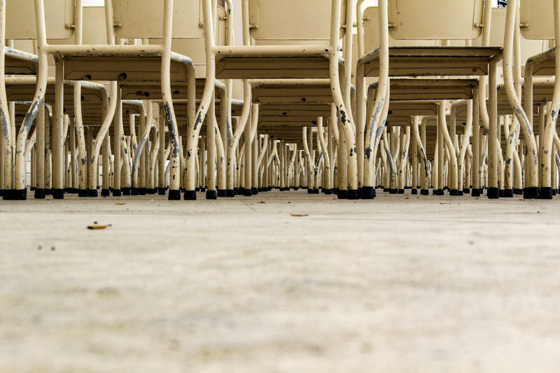 Metal Chairs On Floor