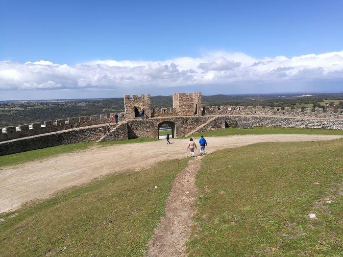 Landscape Aldeias De Portugal Village Alentejo Portugal Castle Old Stuff Wall Walls Castle Castle Fortress Sky Cloud - Sky Calm