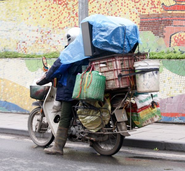 Moving Packed Up Loaded Up Moving House Boxes On Bikes Hanoi, Vietnam Hanoi Up Close Street Photography Novicephotograph Streetphotography