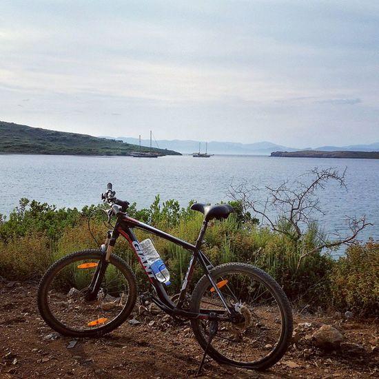 Manzaraya laztik bile dayanmadı :) Marmaris Datça Datça Sunset Sundown özgürlük Sea Sunsetsea Manzara Clouds Ada Island Nature Bike Bikeswithoutlimits View Turkey