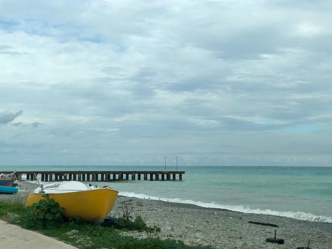 Certe giornate di fine inverno... Sky Sea Cloud - Sky Water Day Beach Nature Tranquility Outdoors Nautical Vessel No People Horizon Over Water Scenics Tranquil Scene Built Structure Architecture Beauty In Nature Sand