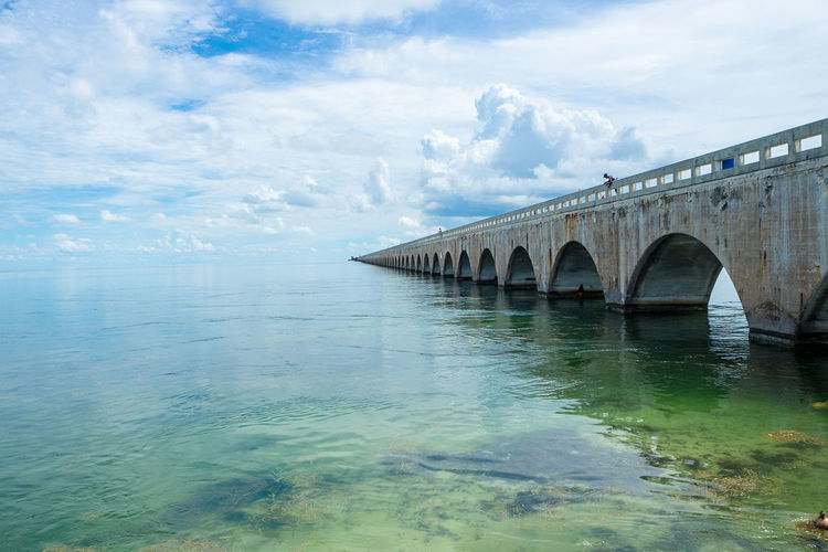 Scenic view to one of the bridges in the florida keys Bridge - Man Made Structure Connection Day Desire Florida Hemmingway Holiday Horizon Over Water Nature Ocean Outdoors Scenics Sea Space For Text Travel Traveling Water