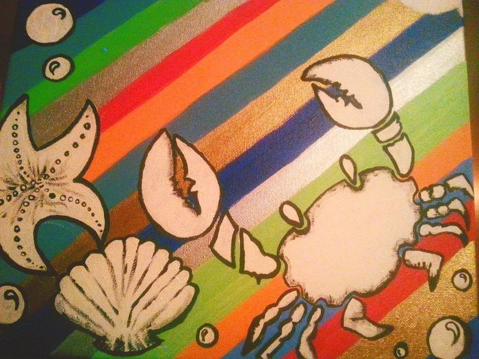 Hard Work Workinprogress Art By Me Art, Drawing, Creativity Acrylic Painting Peace Crab Underthesea