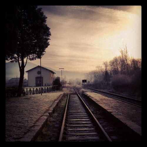 Ghivizzano Tuscany Serchiovalley Train Tracks Train Station Italy