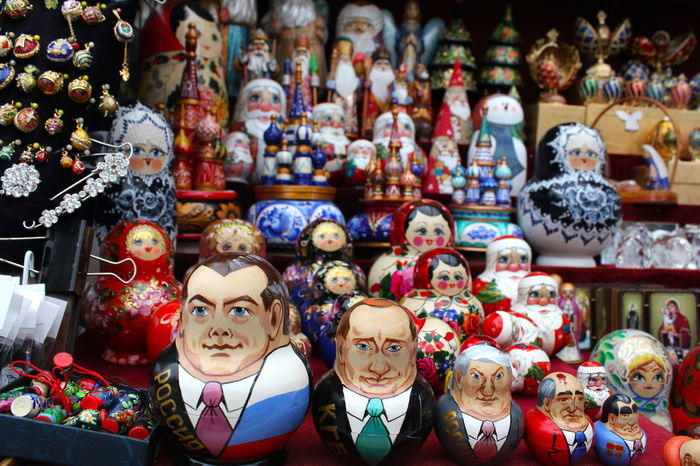 Puppets Putin Russia Arrangement Art And Craft Choice Collection Creativity Doll Figurine  For Sale Human Representation Large Group Of Objects Market Market Stall No People Order Representation Retail  Retail Display Sale Sculpture Store Toy Variation