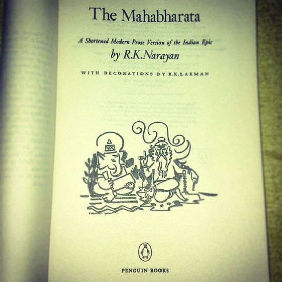Reading Novel The Mahabharata Once Again By  Rknarayan NOthIng To  Do Free Spending Time Relaxing The Winters Home