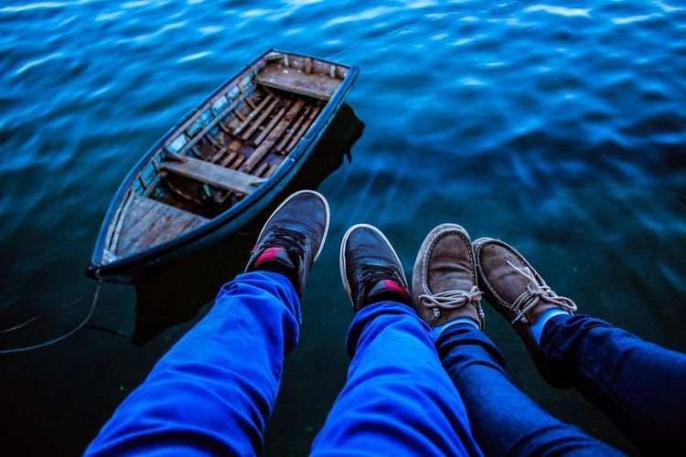 Water Personal Perspective Shoe Low Section Human Body Part One Person Outdoors Day Nature Adult People Nautical Vessel Close-up Love