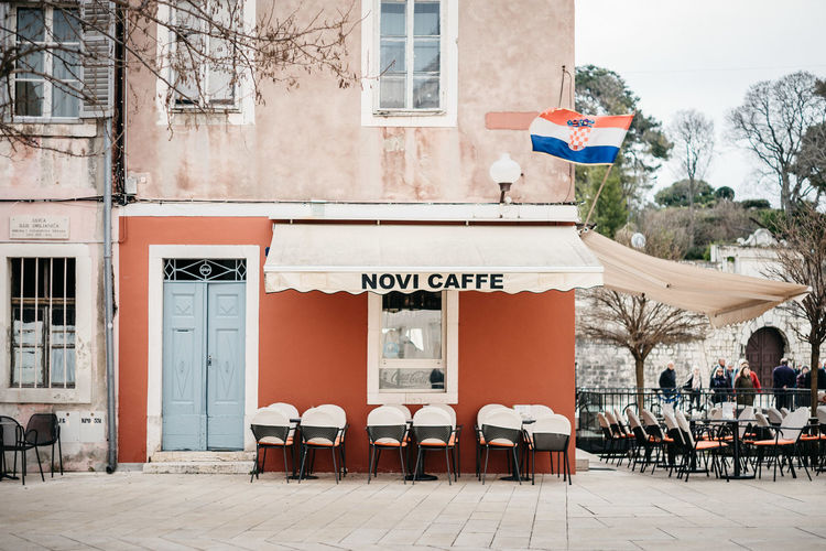 Coffee in the City Croatia Stories From The City Zadar Zadar,Croatia Cafe Coffe Flag Zadar Old Town