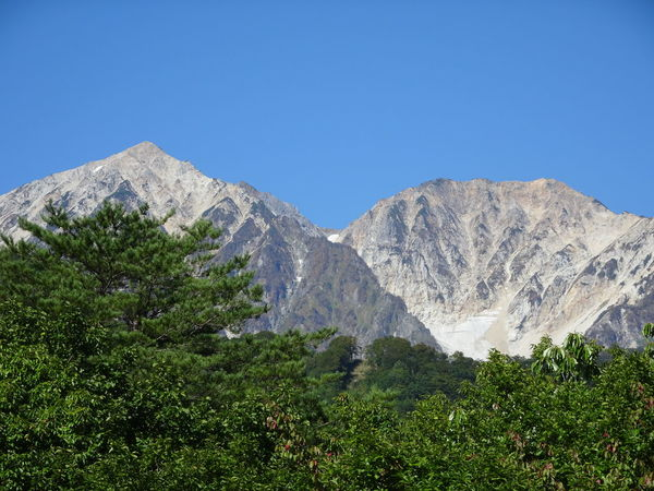 Mountain Mountain Range Nature Beauty In Nature Outdoors Day Clear Sky Sky Tree No People From My Point Of View 白馬 Hakuba Nagano, Japan
