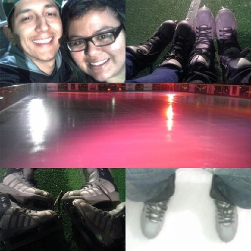 Had a great first time Iceskating with my love @peaceloveramos and her family :) thanks for the invite and experience @frankk_r it was dope! @steff_karol21 @smom365 Mylovefamily MyLegsHurt Iceicebaby