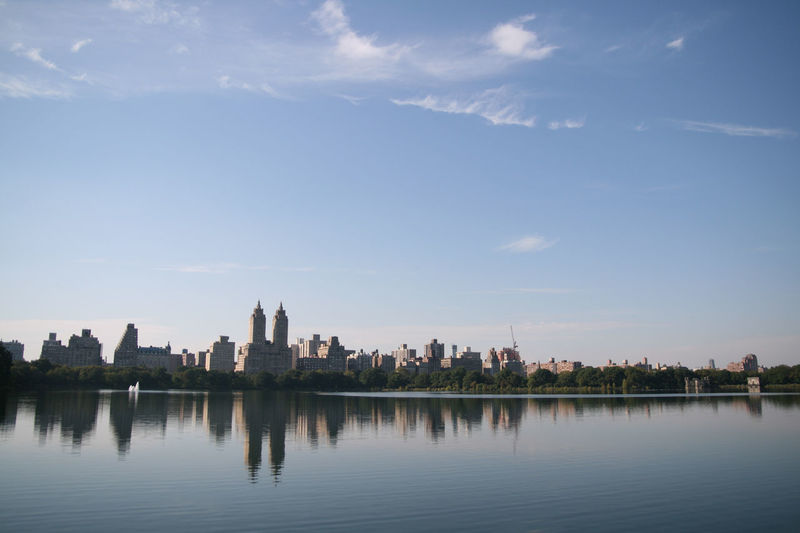 Architecture Big Apple Building Exterior Central Park Cloud Cloud - Sky Day Lake New York Reflection Sky TOWNSCAPE Urban USA West Side