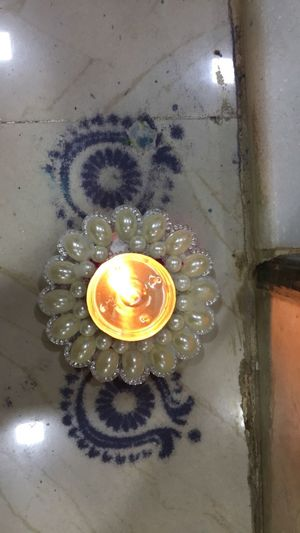 High Angle View Indoors  No People Close-up Water Day Colourful Colourful Sand Lamp Candle Candlelight Pearl Door Step