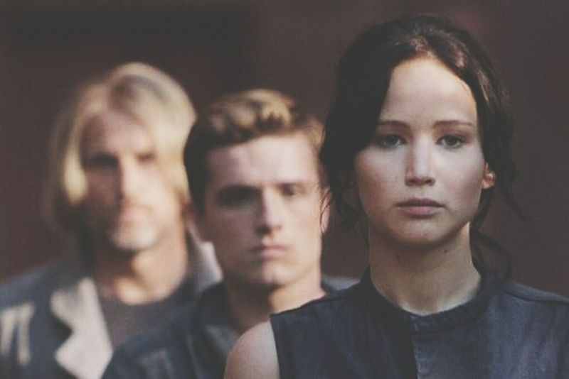 Katniss Peeta Haymitch En Llamas