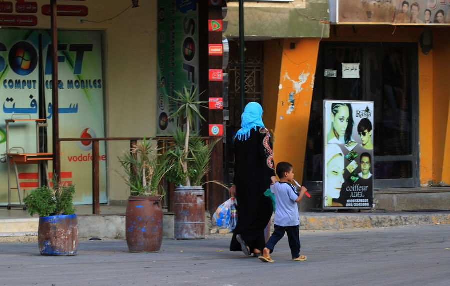 City Life Egypt Hurghada Lifestyles Mother & Child Tradition Urban Walking