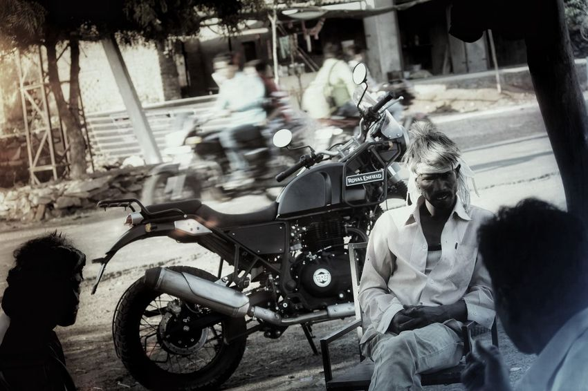Motorcycle Transportation Mode Of Transport Land Vehicle Car People Adult Old-fashioned Adults Only Only Men Day Men Full Length Outdoors Togetherness Real People Young Adult Blackandwhite Blackandwhite Photography Black&white Black And White Collection  Nocolor Friendship City Biker