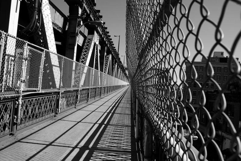 Chainlink fence on manhattan bridge