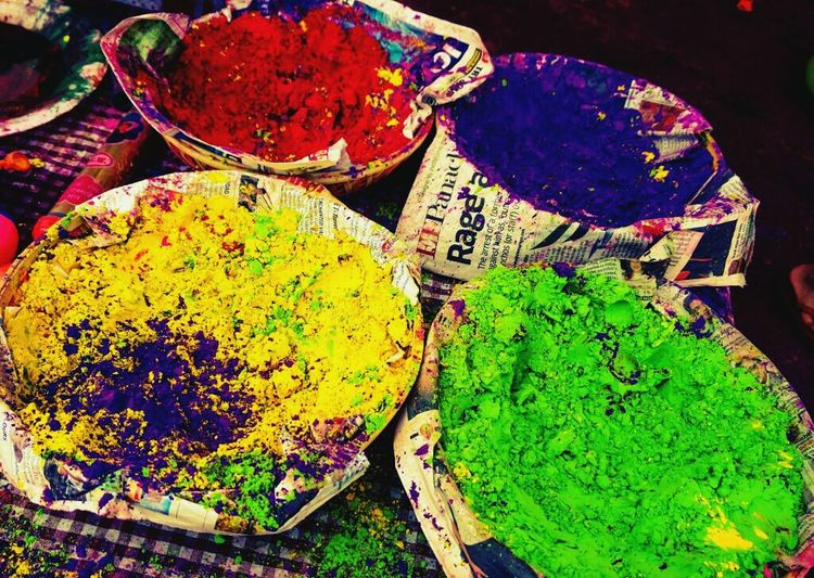 Colours Holi Festival Celebration Love Spring
