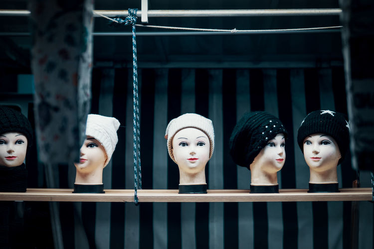 GIRL FRIENDS Representation Retail  Shopping Store Retail Display No People Side By Side Indoors  Group Of Objects Sale Fashion In A Row Choice Clothing Window Railing Consumerism Boutique Mannequin Dummy Heads Dummy My Best Photo