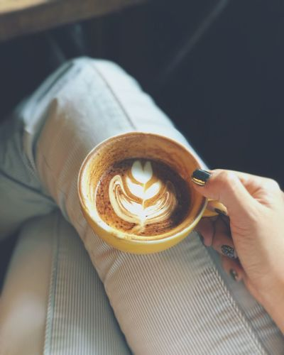 Chilling with a cup of coffee