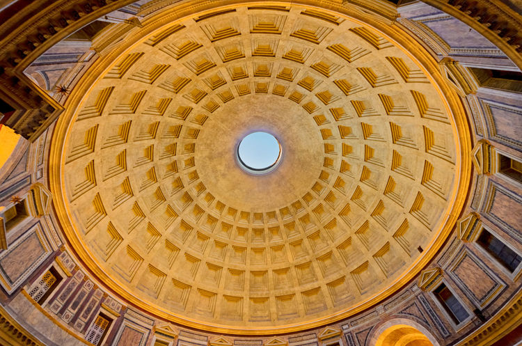 Pantheon, Rome. Agrippa Empire Pantheon Rome Skylight Travel Architecture Built Structure Ceiling Colorful Cupola Design Dome History Indoors  Interior Italian Italy Low Angle View Monument Roman Travel Destinations Urban