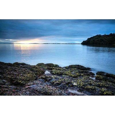 Laugharne Estuary. Wales Coast Sky Igwales