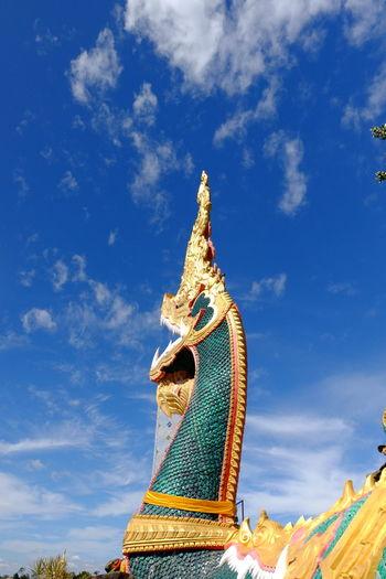The great naga statuary in phon phisai district, nongkhai, thailand