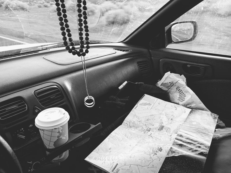 Car Transportation Land Vehicle Mode Of Transport Vehicle Interior Car Interior Day No People Close-up Outdoors Roadtrip On The Road Black And White