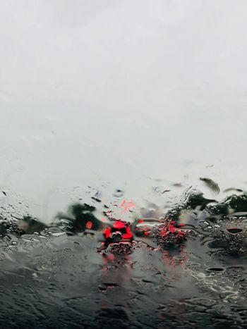 Rain Rainy Days Road Traffic Day No People Outdoors Rain Rainy Season Road Trip Sky Through The Window Transportation Water Wet