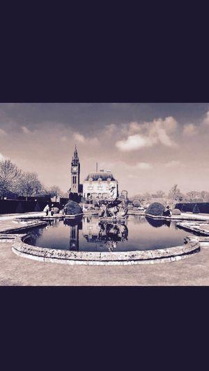 Blackandwhite Gardens Cheshire Duke Of Westminster Easton Hall Estate Pond Clock Tower Reflection EyeEm Best Shots - Black + White