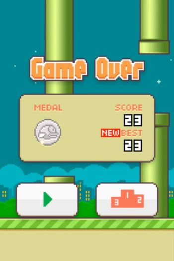 Flappy Bird Game Over Relaxing yesss!
